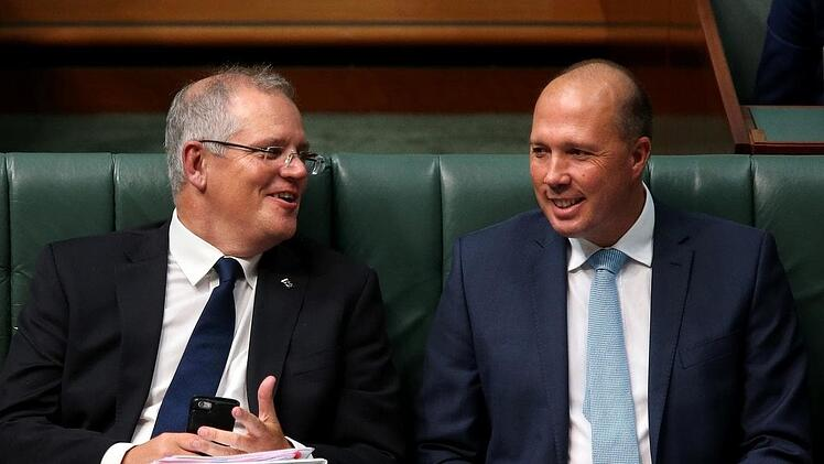 scott morrison and peter dutton