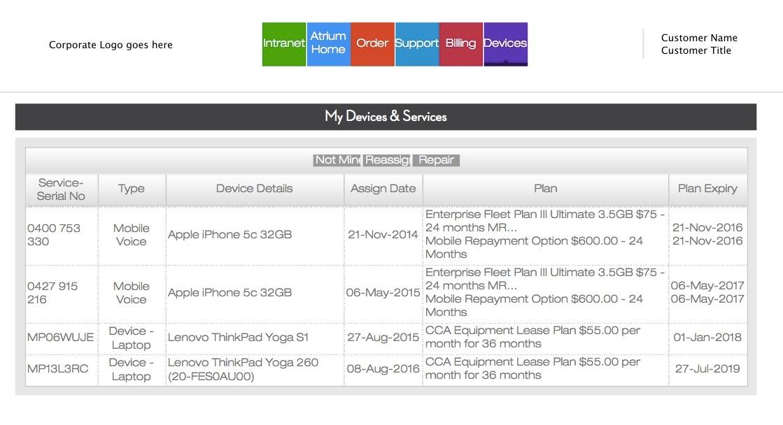 Atrium Generic My Devices page screenshot-1