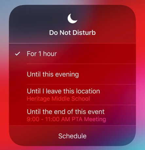 Do Not Disturb iOS12