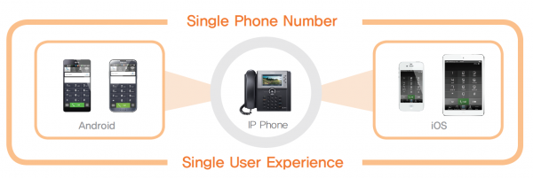 Phone system single user experience