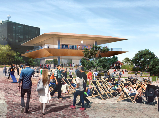 New apple store design Fed Square