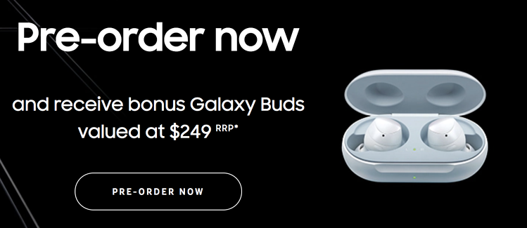 Preorder Samsung Galaxy S20 bonus Galaxy Buds