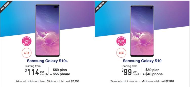 Samsung Galaxy s10 Telstra plans