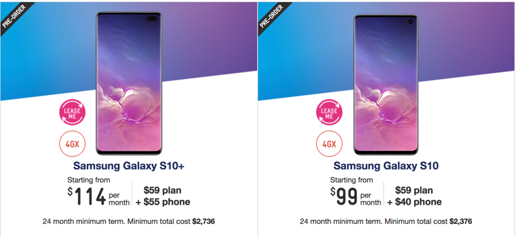 Samsung Galaxy s10 Telstra plans