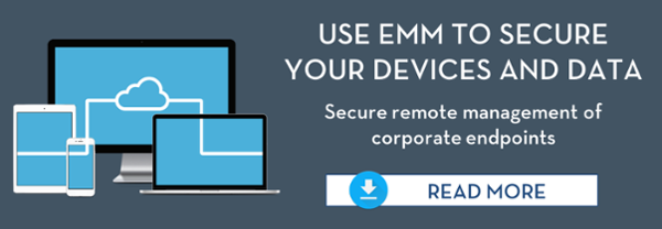 EMM secures devices and data